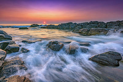 Photograph - Sunrise On Marginal Way by Rick Berk