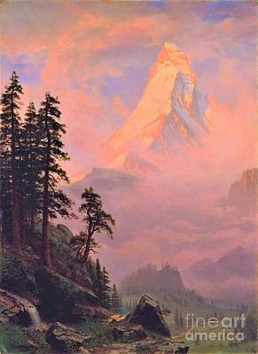 Painting -  Sunrise On Matterhorn                                  by Reproduction