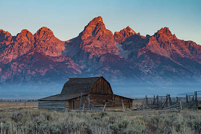 Photograph - Sunrise On Mormon Row by Mark Kiver