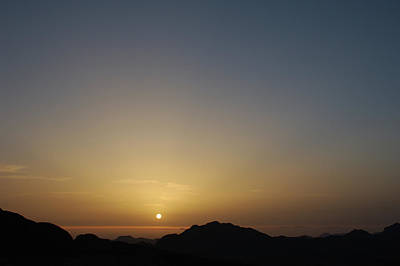Photograph - Sunrise On Mount Sinai - Egypt by Robert Shard
