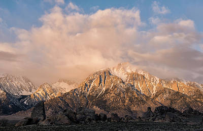 Photograph - Sunrise On Mount Whitney by Loree Johnson