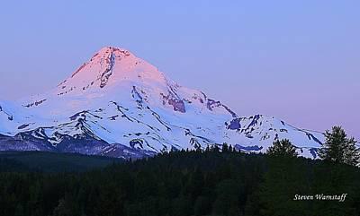 Photograph - Sunrise On Mt. Hood by Steve Warnstaff
