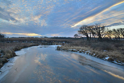 Photograph - Sunrise On Nippersink Creek From Route 31 Bridge by Ray Mathis