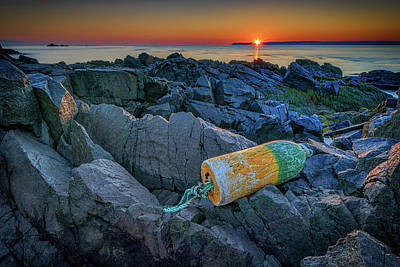 Quoddy Photograph - Sunrise On Passamaquoddy Bay by Rick Berk