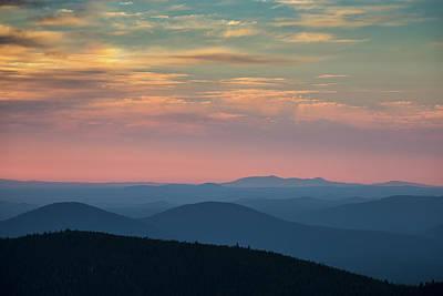 Sunrise On Paulina Peak Art Print