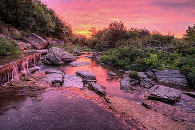 Flint Hills Of Kansas Photograph - Sunrise On Pillsbury Crossing by JC Findley