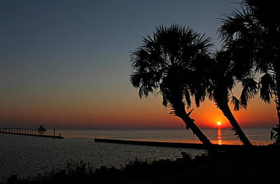 Photograph - Sunrise On Pleasure Island by Judy Vincent