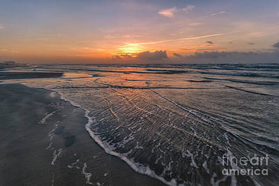 Photograph - Sunrise On Port Aransas Texas by Ronda Kimbrow
