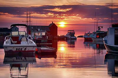 Photograph - Sunrise On Rockport's Inner Harbor by Jeff Folger