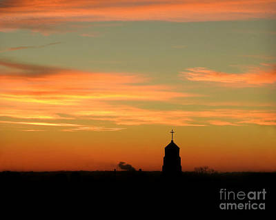 Photograph - Sunrise On Sacred Heart by Kathy M Krause