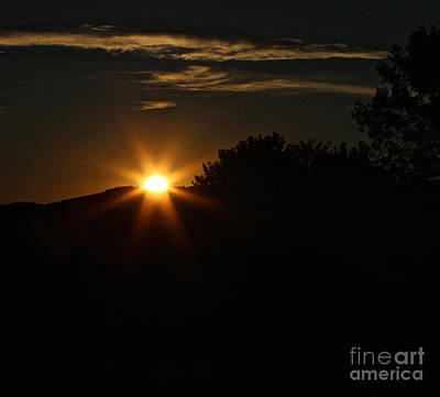 Photograph - Sunrise On Saddle Mountain Road by Ann E Robson
