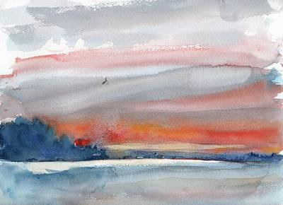 Painting - Sunrise On San Pablo Bay2 by Tom Simmons