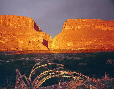 Photograph - 317828-sunrise On Santa Elena Canyon  by Ed  Cooper Photography