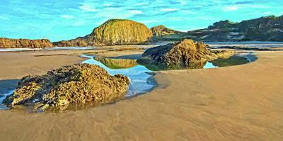 Photograph - Sunrise On Seal Rock Beach  by Thom Zehrfeld