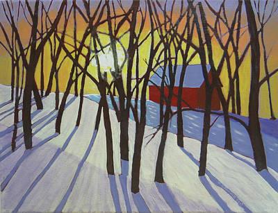 Sudbury Painting - Sunrise On Sunnyside Road by Doug Goodale