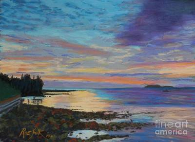 Pastel - Sunrise On Tancook Island  by Rae  Smith PAC