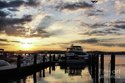 Sunrise On The Alexandria Waterfront Art Print