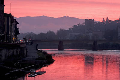 Photograph - Sunrise On The Arno 1 by Art Ferrier