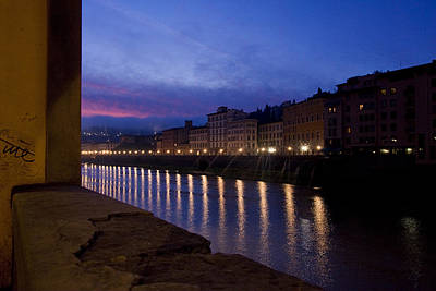 Photograph - Sunrise On The Arno 15 by Art Ferrier