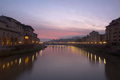 Photograph - Sunrise On The Arno 4 by Art Ferrier