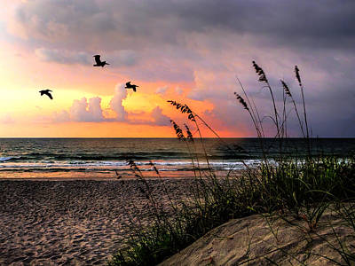 Photograph - Sunrise On The Beach 02 by Terry Shoemaker
