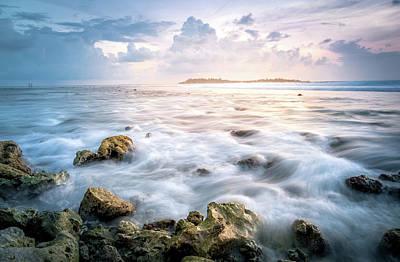 Island Photograph - Sunrise On The Beach, Maldive by Katesalin Pagkaihang