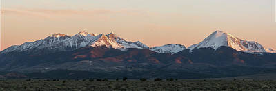 Photograph - Sunrise On The Blanca Group by Aaron Spong