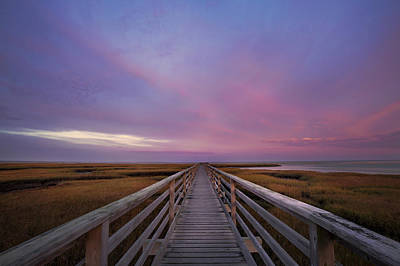 Photograph - Sunrise On The Boardwalk by Betty Wiley