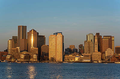 Sunrise On The Boston Skyline View From East Boston Art Print by Toby McGuire