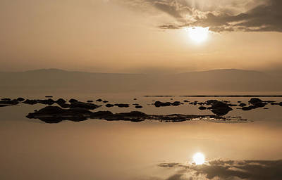 Photograph - Sunrise On The Dead Sea-3 by Sergey Simanovsky
