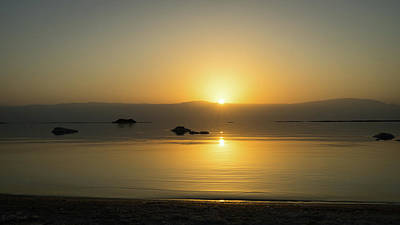 Photograph - Sunrise On The Dead Sea  by K Pegg