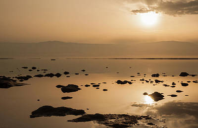 Photograph - Sunrise On The Dead Sea by Sergey Simanovsky