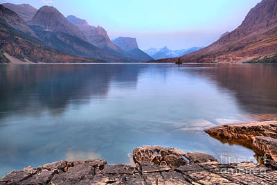 Photograph - Sunrise On The Eadge Of St. Mary Lake by Adam Jewell