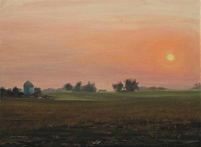 Sunrise On The Farm Art Print