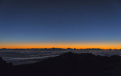Tranquil Mountaintop Photograph - Sunrise On The Horizon by LeeAnn White