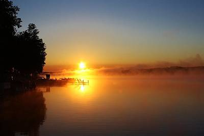 Art Print featuring the photograph Sunrise On The Lake 2 by Bruce Bley