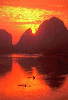 Photograph - Sunrise On The Lijiang by Dennis Cox ChinaStock