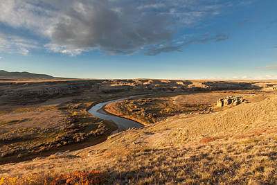 Photograph - Sunrise On The Milk River by Fran Riley