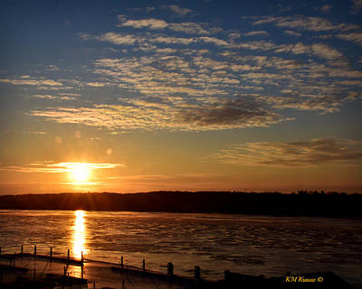 Photograph - Sunrise On The Mississippi by Kathy M Krause