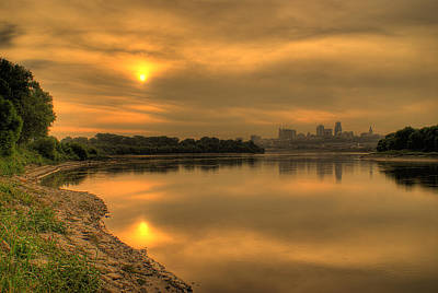 Photograph - Sunrise On The Missouri River by Don Wolf