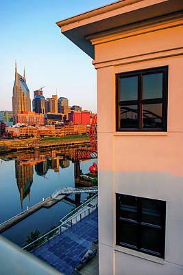 Photograph - Sunrise On The Nashville Tennessee Skyline by Gregory Ballos