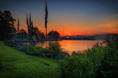 Photograph - Sunrise On The Neuse 2 by Cindy Lark Hartman