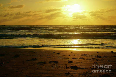 Photograph - Sunrise On The Padre by Roxie Crouch
