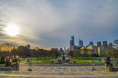 Benjamin Franklin Parkway Photograph - Sunrise On The Parkway - Philadelphia Pa by Bill Cannon