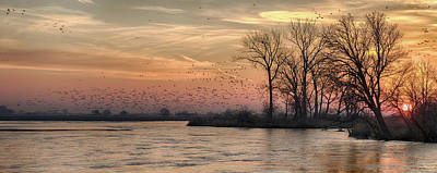 Photograph - Sunrise On The Platte by Susan Rissi Tregoning