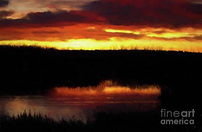 Photograph - Sunrise On The Pond by Steven Parker