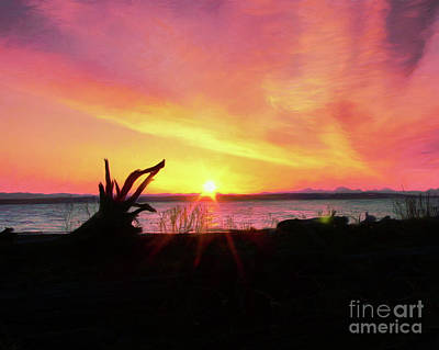 Photograph - Sunrise On The Puget Sound by Scott Cameron