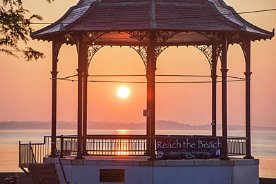 Photograph - Sunrise On The Revere Beach Bandstand Revere Ma by Toby McGuire