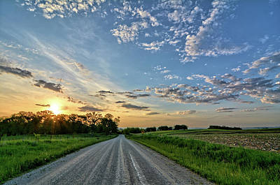 Photograph - Sunrise On The Road by Bonfire Photography