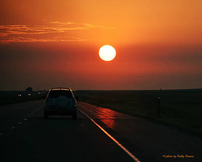 Photograph - Sunrise On The Road by Kathy M Krause